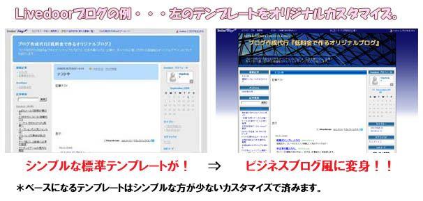 ブログ作成代行 livedoorブログ カスタマイズ 例