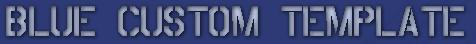 MTOS無料テンプレート配布 BLUE CUSTOM